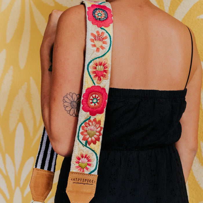 Newly Embroidered Strap - Flower Power