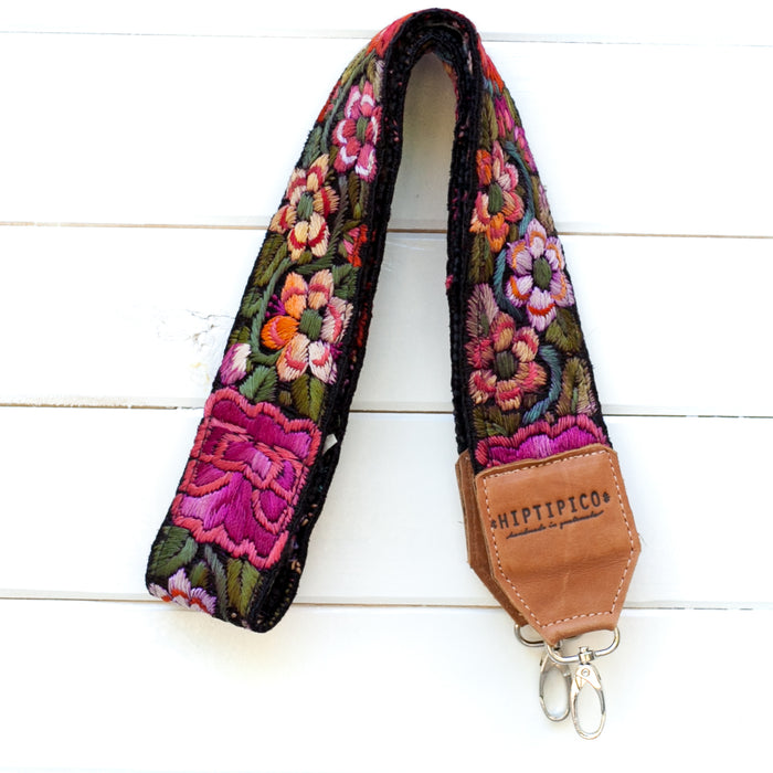 Leather Embroidered Strap - No. 714 Vienna