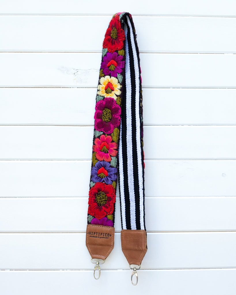 Leather Embroidered Strap - No. 716 Cusco