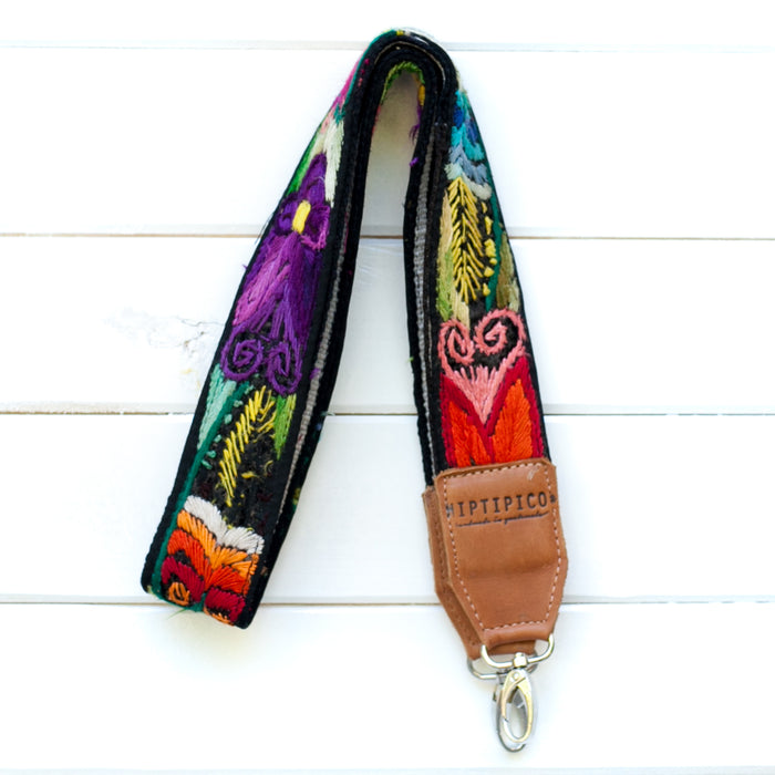 Leather Embroidered Strap - No. 721 Galapagos