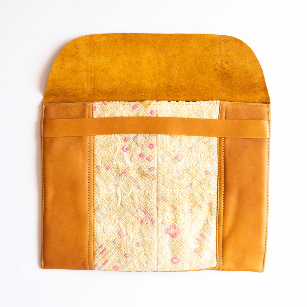 Leather Embroidered Laptop Case - 006