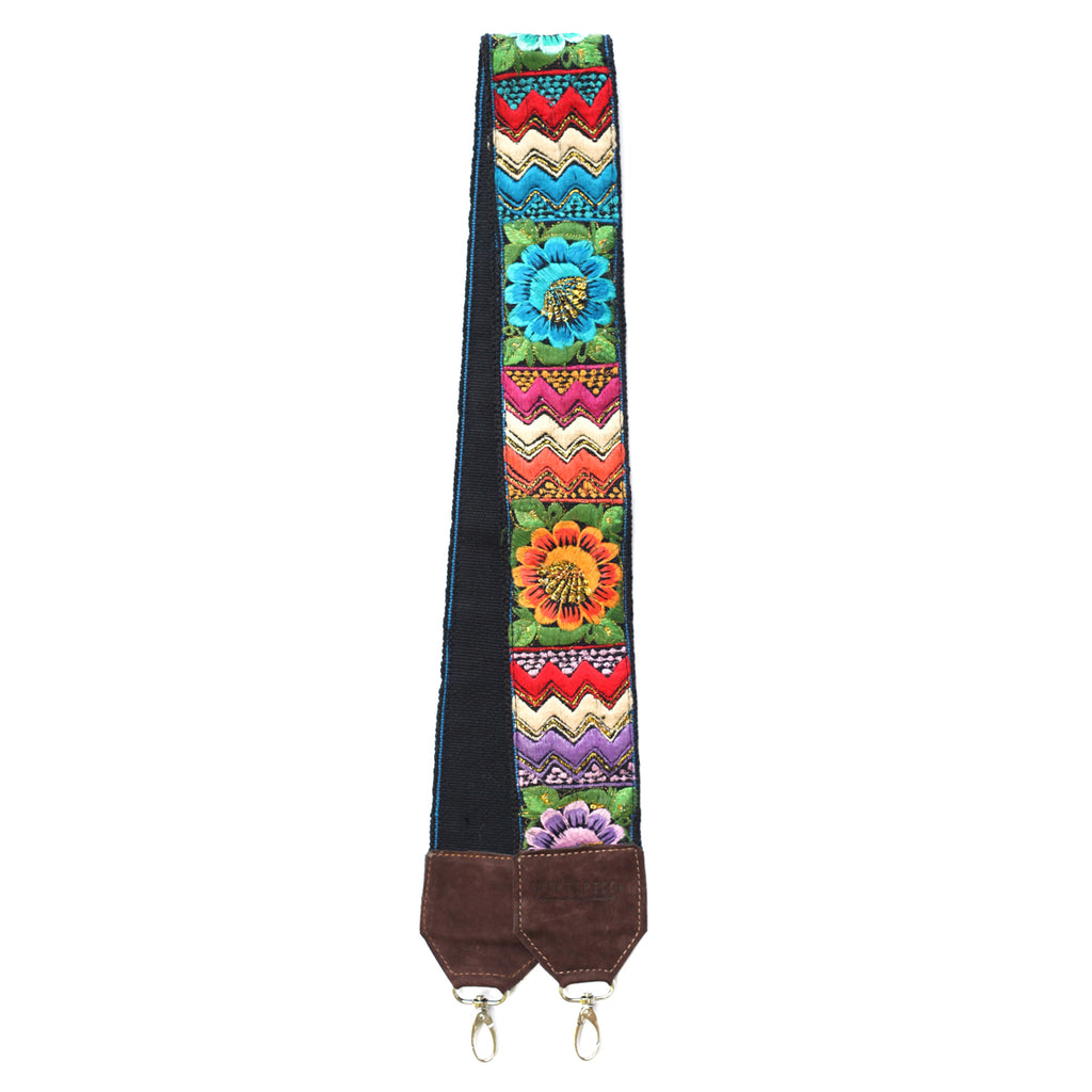 Leather Embroidered Strap - No. 469 Tres