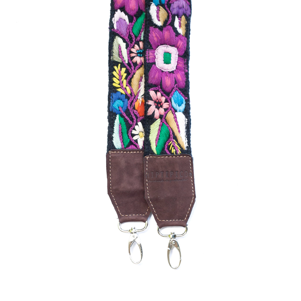 Leather Embroidered Strap - No. 473 Siete