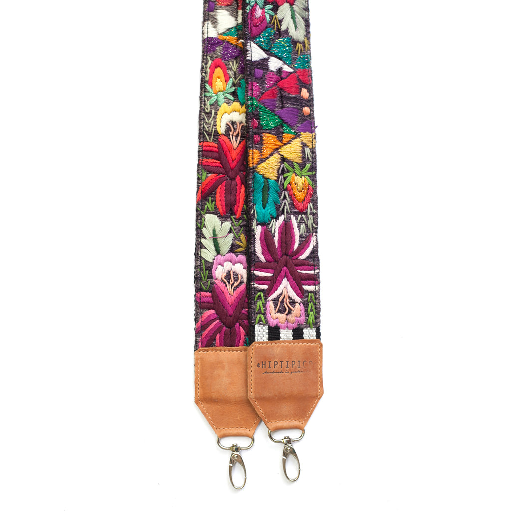 Leather Embroidered Strap - No. 478 Doce