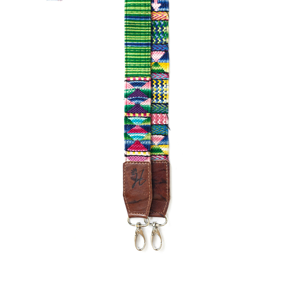 Thin Leather Embroidered Strap - No. 569 Noventa y nueve