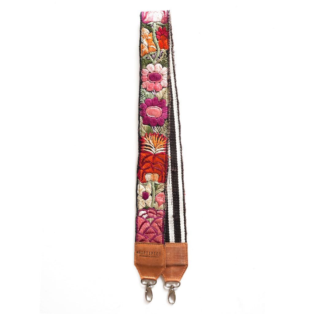 Leather Embroidered Strap - No. 553 Ochenta y tres