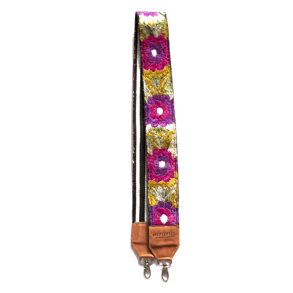 Leather Embroidered Strap - No. 556 Ochenta y seis