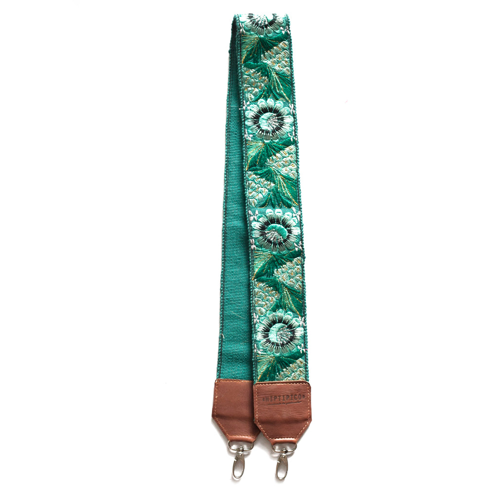 Leather Embroidered Strap - No. 557 Ochenta y siete