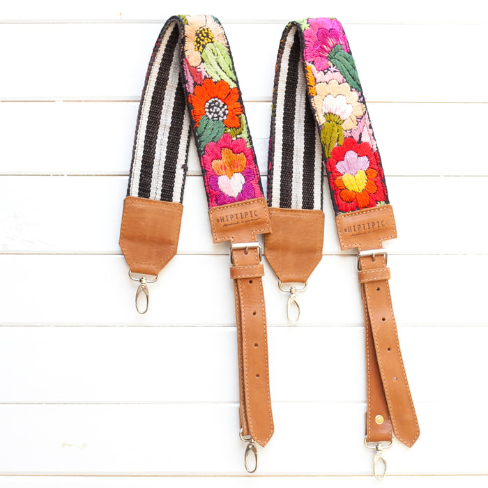 Hiptipico Backpack Straps, Embroidered Backpack Straps, Guatemala Backpack Straps, textile bag strap, huipil backpack straps, handmade bag straps, bohemian backpack
