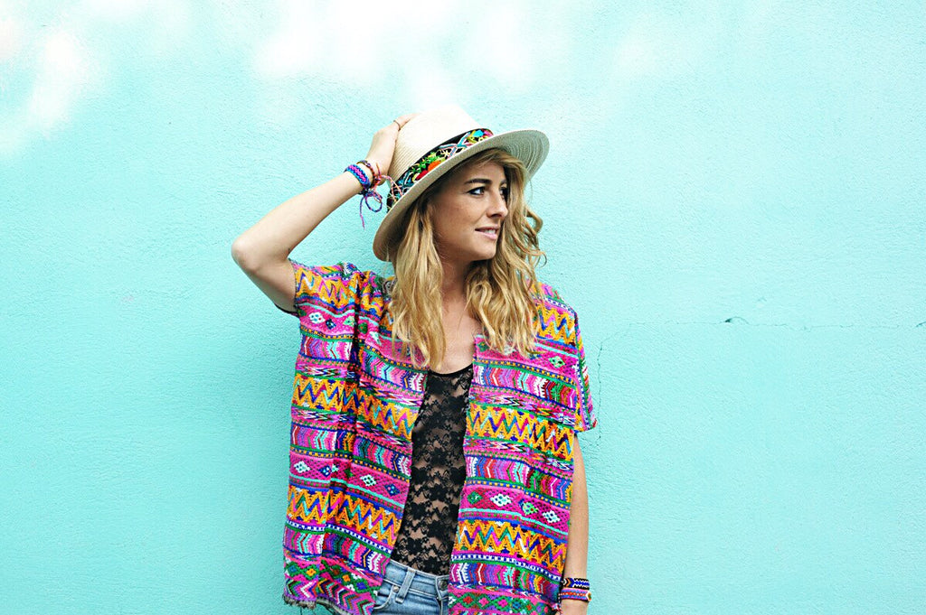 Hiptipico Cape, Hiptipico Poncho, Embroidered Festival Blouse, Festival Fashion, Hiptipico Blouse, Huipil Blouse, Handmade Festival Fashion, Bohemian Style Poncho, Guatemala Huipil, Ethical Brand, Bright Traditional Huipil