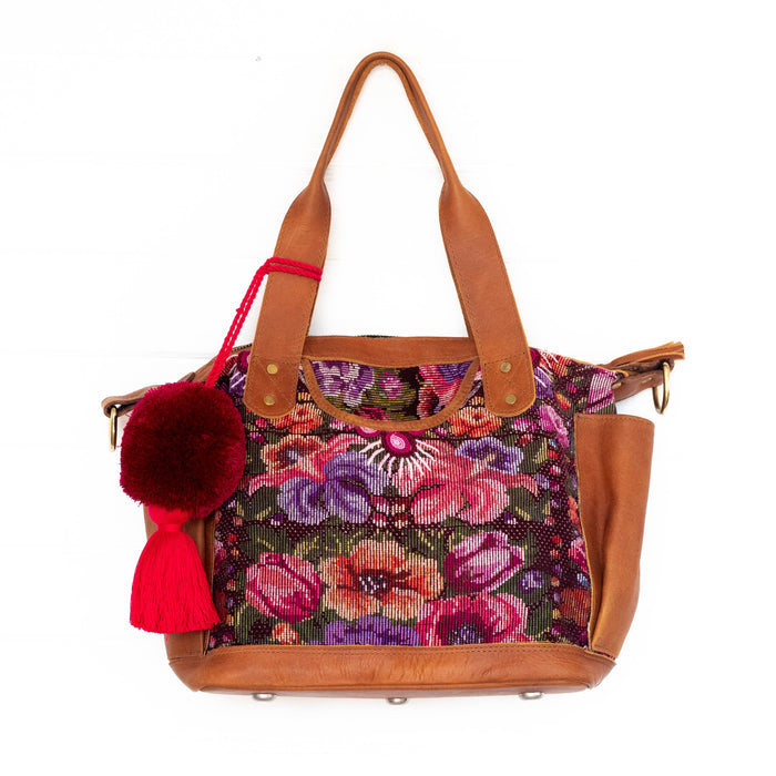 Hiptipico Bags, Hiptipico Leather Convertible Bag, Hiptipico CDB, Textile Bags, Handmade Convertible bags, Leather Bags Guatemala, Free People Leather Bags, Hiptipico Backpack Straps, Embroidered Backpack Straps, Guatemala Backpack Straps, Textile Bag Strap, Huipil Backpack Straps, Handmade Bag Straps, Bohemian Backpack, Adjustable Backpack Straps, Leather Backpack Straps