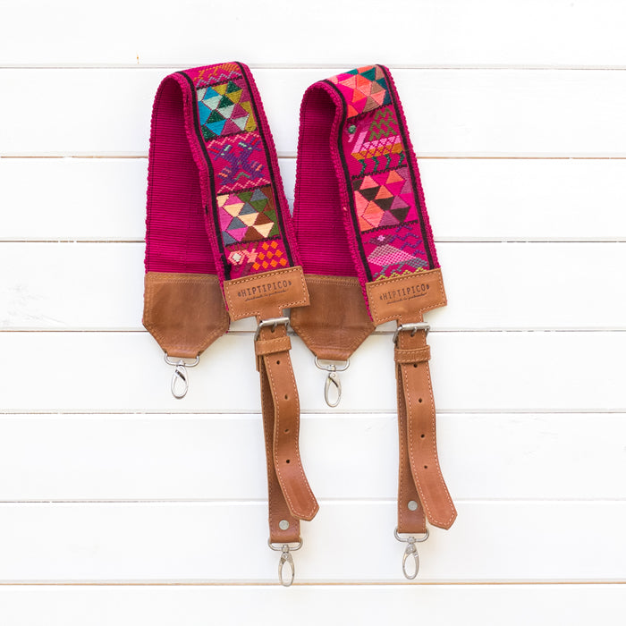 Hiptipico Backpack Straps, Embroidered Backpack Straps, Guatemala Backpack Straps, textile bag strap, huipil backpack straps, handmade bag straps