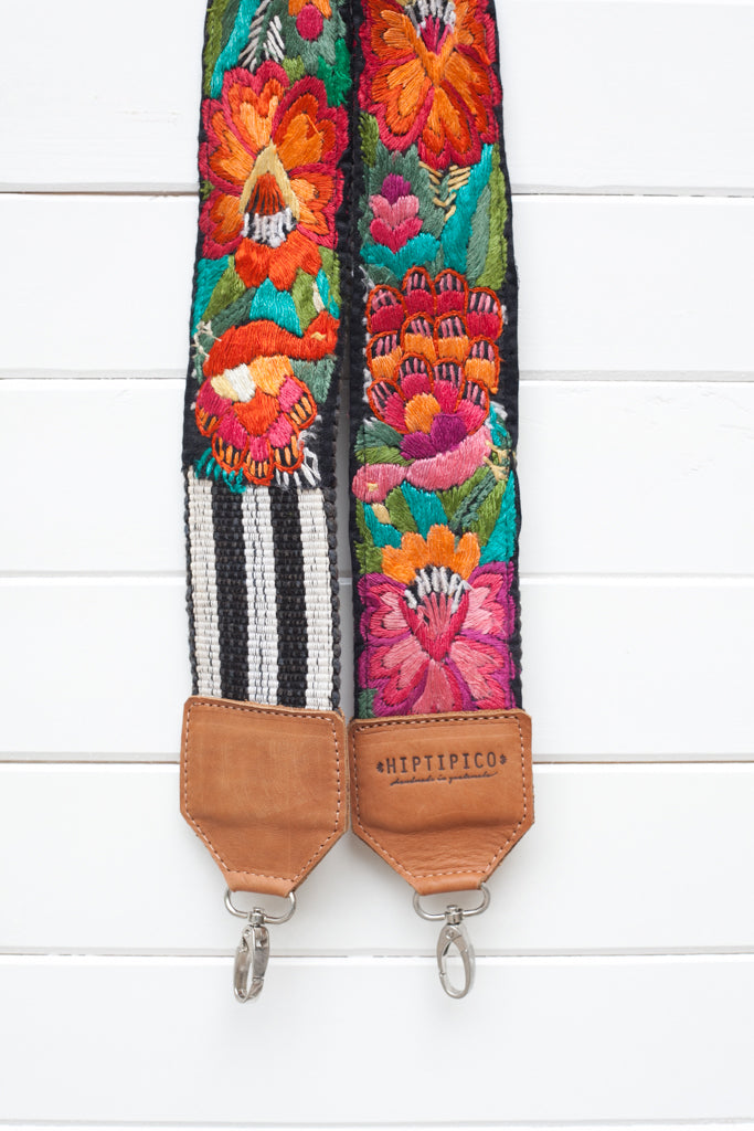 Leather Embroidered Strap - No. 641 Istanbul
