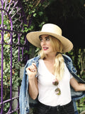 hiptipico hat, sun hat, straw hat, handmade, ethical brand, sustainable fashion, beach hat, bow, wide brim