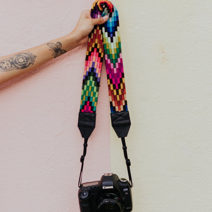 Vintage Embroidered Camera Strap - V1059