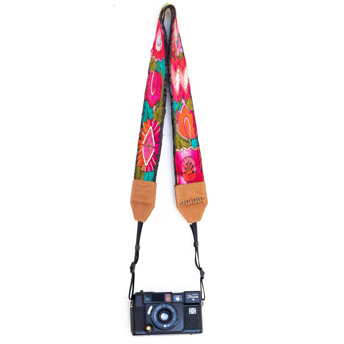 Vintage Embroidered Camera Strap - V1051
