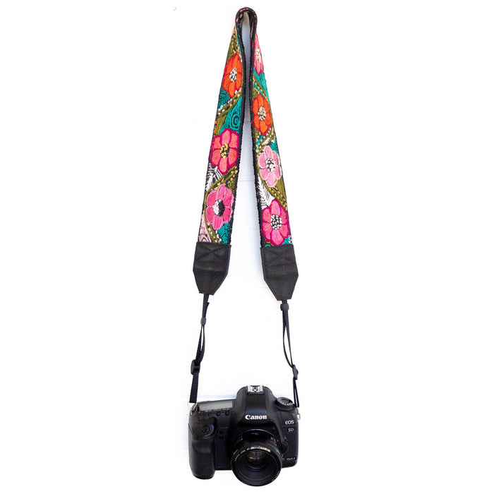Vintage Embroidered Camera Strap - V1055