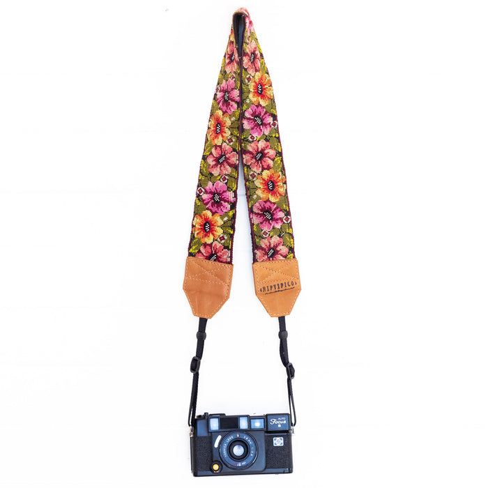 Vintage Embroidered Camera Strap - V1058
