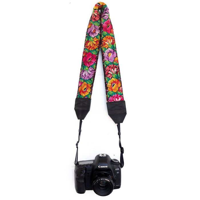 Vintage Embroidered Camera Strap - V1064