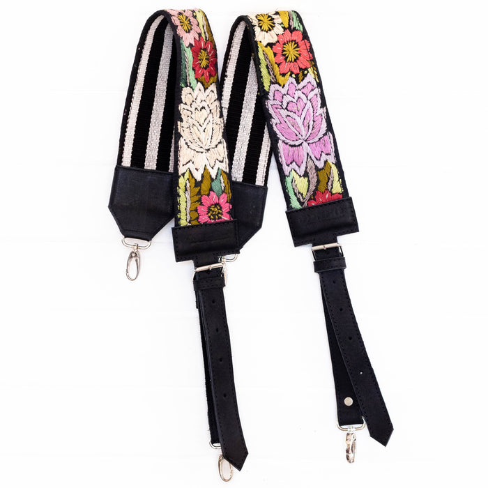 Vintage Embroidered Backpack Strap - V1086
