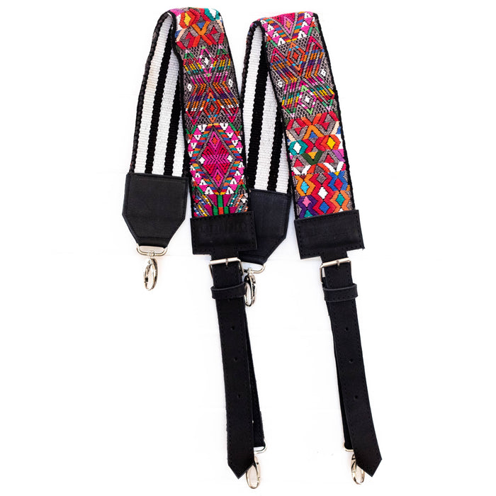 Vintage Embroidered Backpack Strap - V1090
