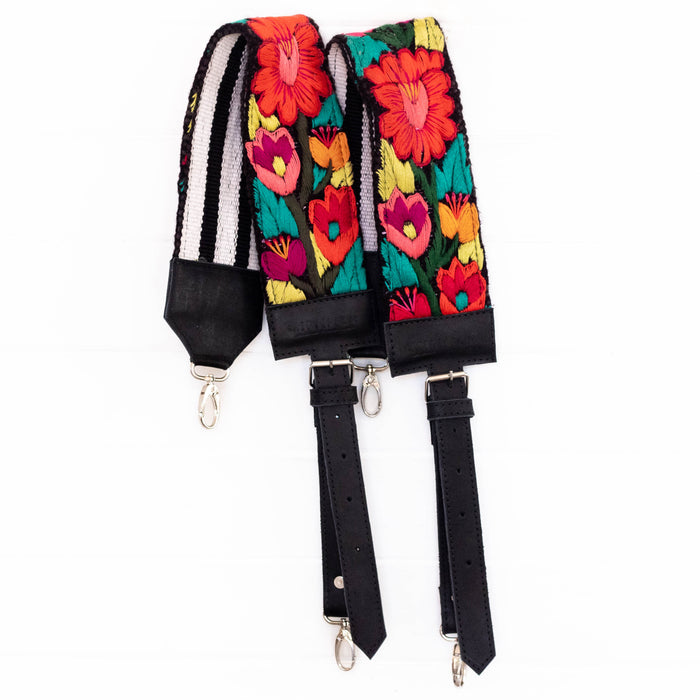 Vintage Embroidered Backpack Strap - V1095