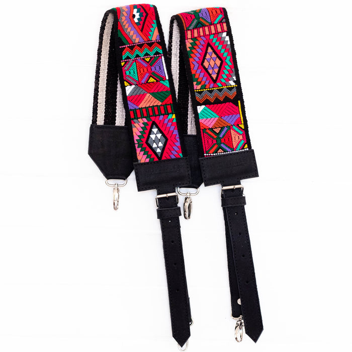 Vintage Embroidered Backpack Strap - V1096