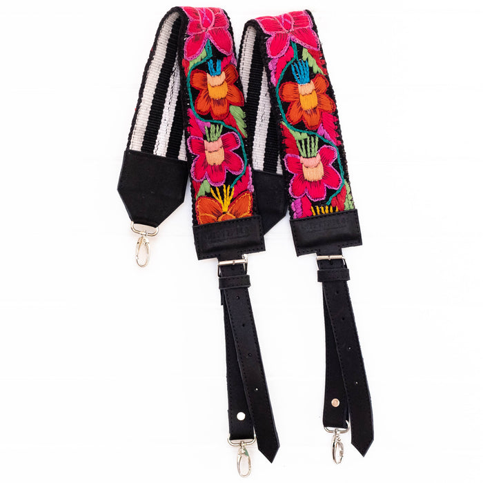 Vintage Embroidered Backpack Strap - V1097