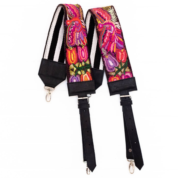 Vintage Embroidered Backpack Strap - V1099