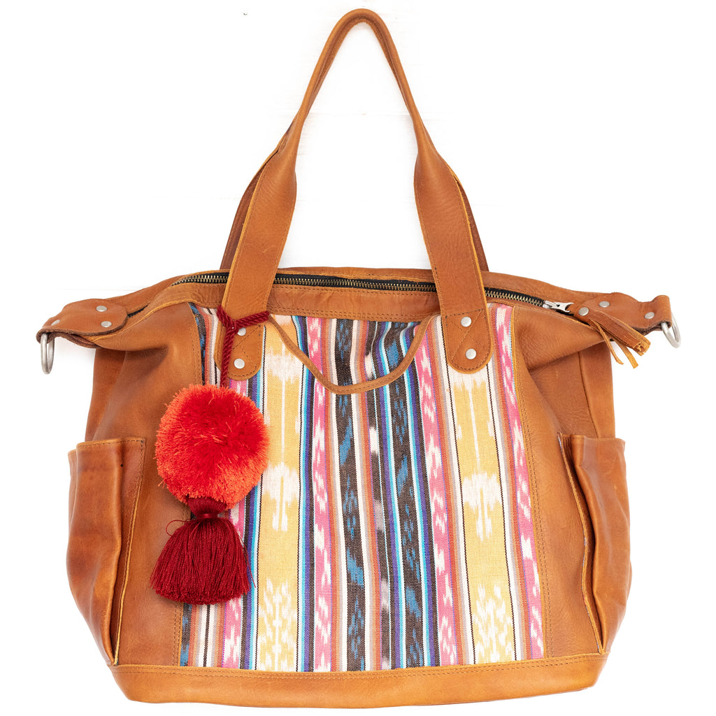 Natural Dye Convertible Bag - Middle Panel