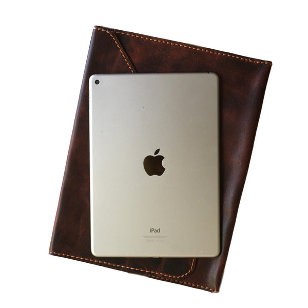 Shop Hiptipico's brown leather iPad case that can provide you bohemian style and comfort!