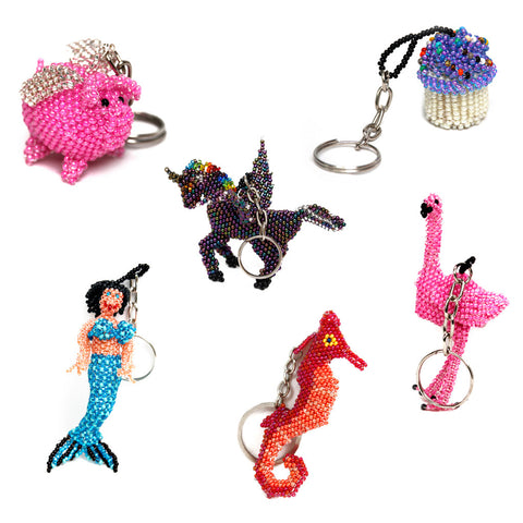 Wholesale: Assorted Beaded Keychains
