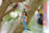 Mermaid Beaded Keychain