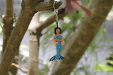 mermaid keychain, mermaid obsessed, mermaid gift, beaded mermaid, bikini mermaid, hand beaded, handmade gift