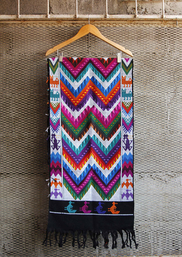 Hiptipico Table Runners, Handmade Ethical Sustainable Home Decor, Guatemalan Table Runners, Vibrant Colorful Embroidered Table Runners, Bohemian Table Runner