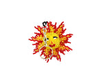 beaded sun, sun keychain, sunny, sun gift, beaded sunset, cute sun, smiling sun,