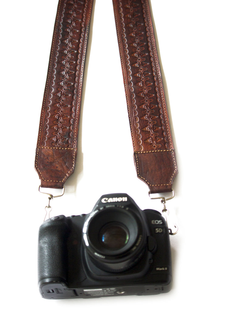 Lexi Tooled Leather Strap - 002 Sienna