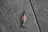 mermaid keychain, mermaid obsessed, mermaid gift, beaded mermaid, bikini mermaid
