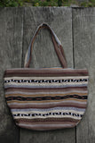 hiptipico tote, natural dye, organic, sustainable, ethical, all natural, neutral, tribal print
