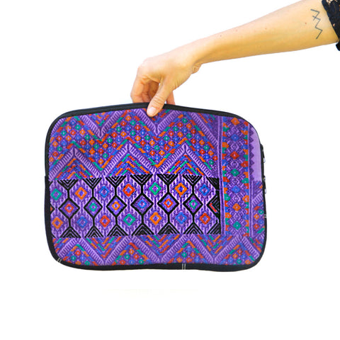 Hiptipico laptop case, free people laptop case, bohemian textile laptop cases, boho multicolored woven ipad case, vintage textile ipad case
