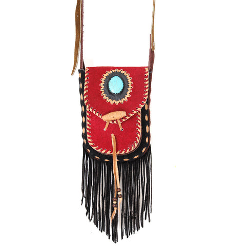 Hiptipico Fringe Cross Body Bag, Free People Bohemian Woven Fringe Bags, Boho Festival Fringe Crossbody Bags, Leather Fringe Handbag for Women, native american leather bag, native american style fringe purse