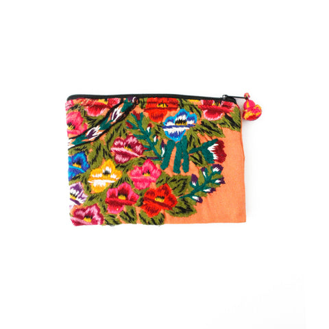 Peach Floral Travel Pouch