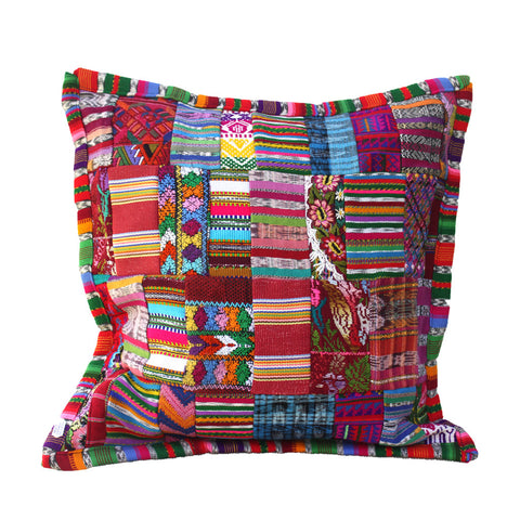 Hiptipico Pillows, Handmade Ethical Sustainable Home Decor, Guatemalan Pillow Cases, Vibrant Colorful Pillow Cases, Embroidered Floral Pillow Case, Bohemian Festival Pillows