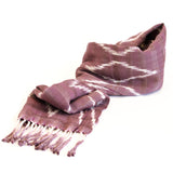 Hiptipico scarf, natural dye scarf, scarf guatemala, ethical scarf, sustainable scarf, organic fashion, organic scarf