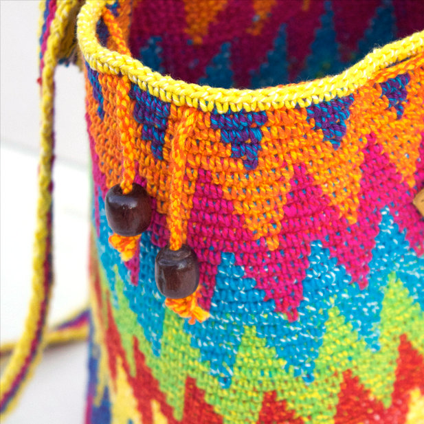 Pride Knit Bucket Bag