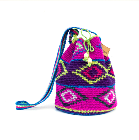 Pitaya Knit Bucket Bag