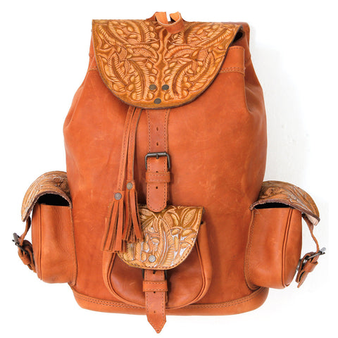 Hiptipico Leather Backpack, Boho Backpacks for Women, Free People Bohemian Festival Textile Leather Backpack, Boho Multicolored Woven Backpacks Handmade from Vintage Textiles, Artisanal Leather Bohemian Backpacks, Ethical Fashion Brand, embossed leather, luxury leather backpack