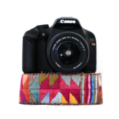 Hiptipico Embroidered Camera Straps, Unique Photographer Gift Idea, Photography Accessories, Bohemian Textile Tapestry Colorful Camera Bag, Hiptipico Camera Strap