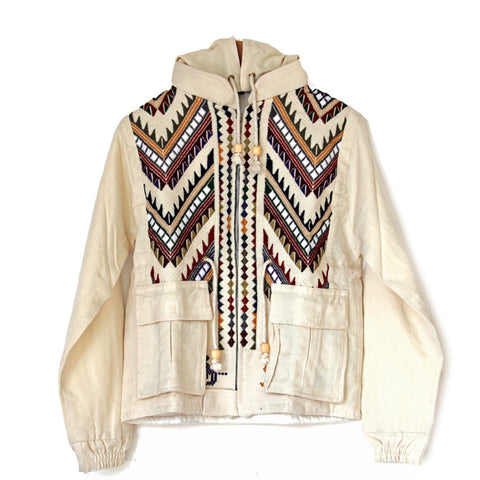 hiptipico jacket, fall jacket, military jacket, embroidered jacket, tribal jacket, guatemalan jacket, ethical jacket, sustainable jacket, free people jacket