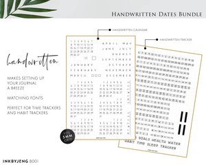 Handwritten Dates Bundle (B001)